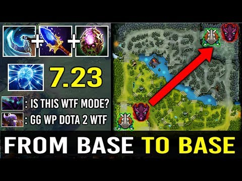 WTF BASE TO BASE SCEWER 7.23 Scepter Magnus Move Spectre To Fountain and Kill Most WTF Moment Dota 2