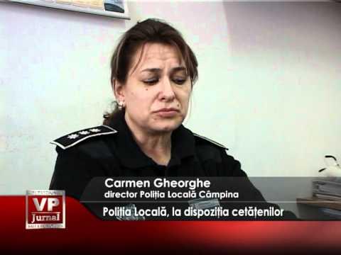 Poliţia Locală, la dispoziţia cetăţenilor