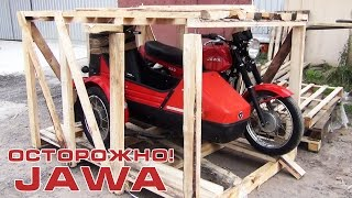 "Caution! JAWA 350/638 ""Luxury"" with a sidecar Velorex 700"