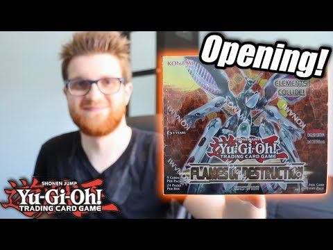 Yu-Gi-Oh! Flames of Destruction Booster Box Opening!