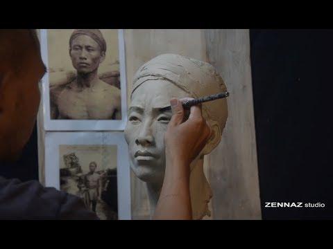 Các bước điêu khắc một tượng chân dung (sculpture tutorial)