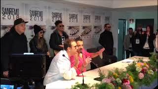 """Pio E Amedeo Irrompono In Sala Stampa Di Sanremo 2018: """"sfrattati"""""""