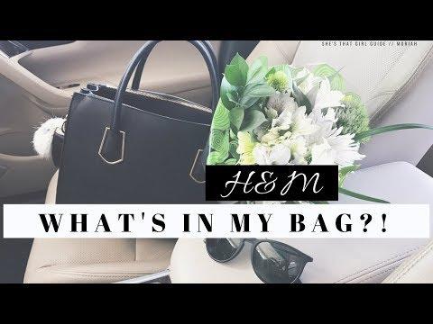 WHAT'S IN MY BAG?!! – FAVORITE H&M PURSE EVER | MORIAH
