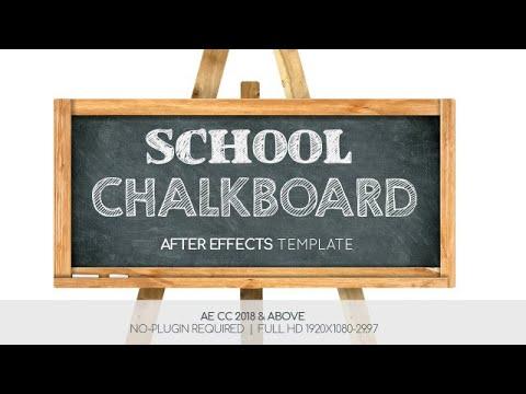 School Chalkboard | After Effects template - смотреть онлайн