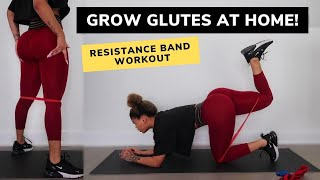 EASILY GROW YOUR YOUR GLUTES AT HOME! // RESISTANCE BAND WORKOUT