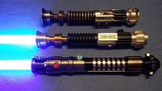 Obi wan kenobi ep4 lightsaber with rolling for Hampton s hand crafted led sabers