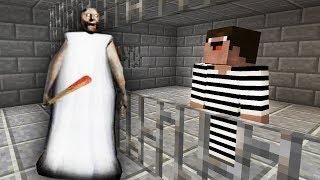 Гренни посадила преступника в тюрьму в Майнкрафт! Копы и преступники. Нуб против minecraft Granny