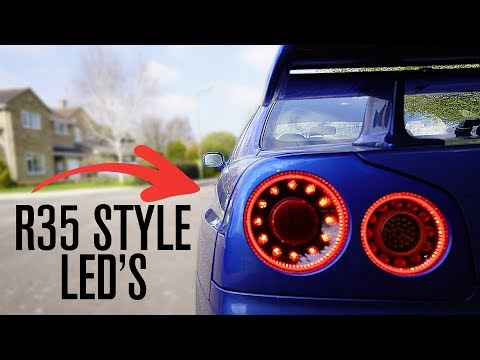 Nissan R35 Style LED Lights for My Skyline R34 GTR!