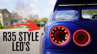 Nissan R35 Style LED Lights for My Skyline R34 GTR!