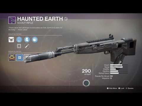 Destiny 2- Haunted Earth New Legendary Dead Orbit Scout Rifle Faction Rally Winner!
