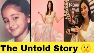 Ananaya Panday Untold Story 🤫 | Untold Fact | Biography | Lifestory | Lifestyle | Bollywood Actress