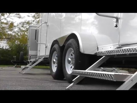 Portable Restrooms Trailer | Shower Trailer | Executive Series 4 Station Combo Restroom Trailer