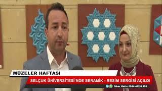 Selçuk Üniversitesi'nde seramik-resim sergisi