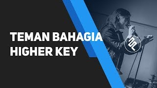 Jaz - Teman Bahagia Karaoke Higher Key Female Piano Instrumental / Chord Kunci / Lirik