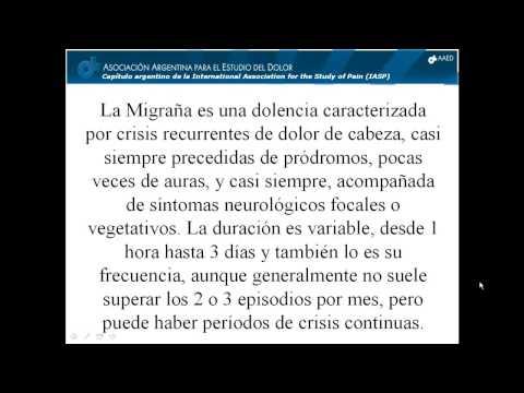 """Demostración de una clase sobre el tema """"Migrañas"""" del Curso de Actualización en Cefaleas de la AAED. Web: www.programadolor.or"""