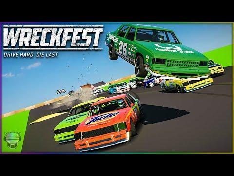 NASCAR STUNT TRACK INSANITY! | Wreckfest