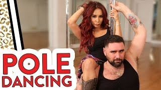 """Nicole """"Snooki"""" and Joey try POLE DANCING WORKOUT!"""