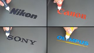Camera Brand Logo Pancake Art - Sony, Nikon, Canon, Olympus