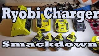 Ryobi ONE+ Battery Charger Smackdown