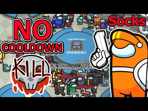 100 players with NO KILL COOLDOWN (among us)