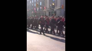 preview picture of video '2014 Remembrance Day Parade London Ontario Canada'