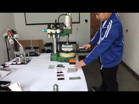 Pneumatic device for fridge magnet making Mould interchangeable