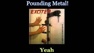 Exciter - Pounding Metal - Lyrics / Subtitulos en español (NWOBHM) Traducida