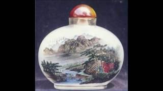 Reverse Painted Glass Teapot, Chinese Art
