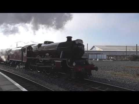 The Scarborough Spa Express at York with LMS 45699 'Galatea'…