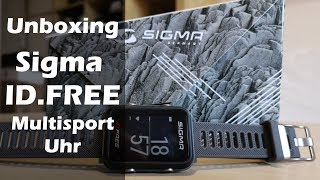 Sigma ID.FREE Multisport Uhr | Unboxing | Montage | Produktpräsentation | 01.09.2019