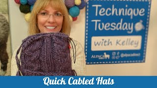 Quick Knit Cabled Hats + Cable Knitting Tips + New Goodies