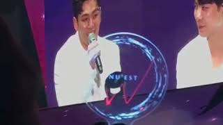 [FANCAM] 170826 Baekho singing 'LOVE PAIN' in fanmeeting of NU'EST W