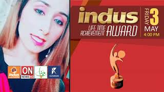 Indus Life Time Achievement Award Lahore Anchor Mehwish Ch.