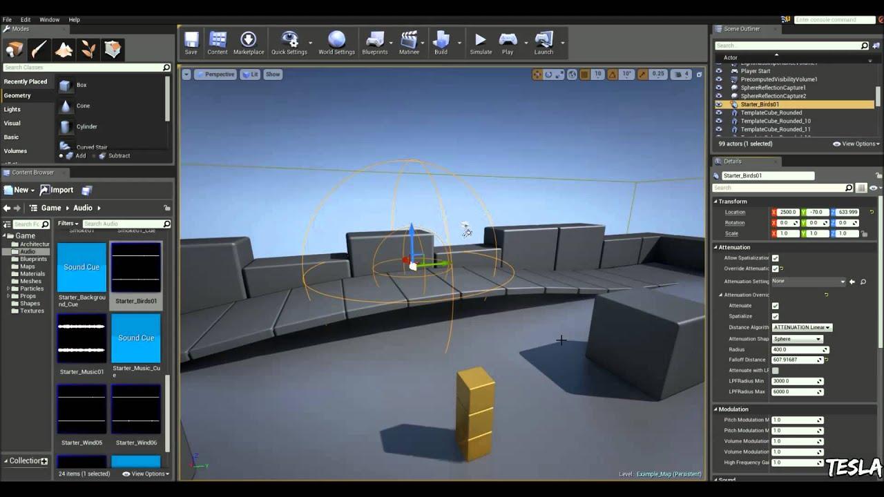 Unreal Engine 4 Tutorial - Ambient Audio (Basic!)