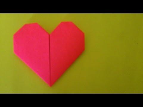Cara Membuat Origami Hati Sederhana   Origami Hati