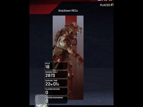 (Xbox One X) 18 Kill 2.8K Damage Clutch! Apex Legends