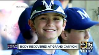 Body of missing teen found at Grand Canyon