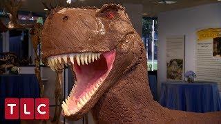 Making A Giant Dinosaur Wedding Cake   Cake Boss