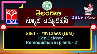 T-SAT || SIET - 07th Class (U/M) : Gen.Science - Reproduction in plants - 2  || 26.02.2021