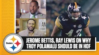 "Jerome Bettis, Ray Lewis on Troy Polamalu | Polamalu was ""probably the BEST player on that team"""
