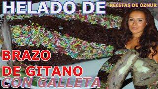 HELADO DE BRAZO DE GITANO | recetas de cocina faciles rapidas y economicas de hacer - comidas ricas