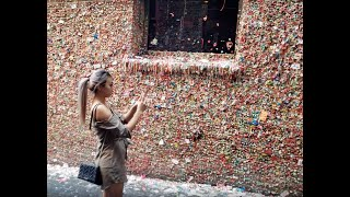 Gum Wall Seattle Washington Pike Place Market Post Alley 4K UHD