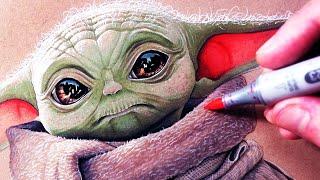 Lets Draw BABY YODA - THE MANDALORIAN - FAN ART