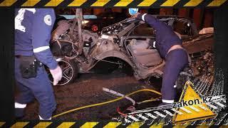 В Алматы Toyota Crown разорвало пополам