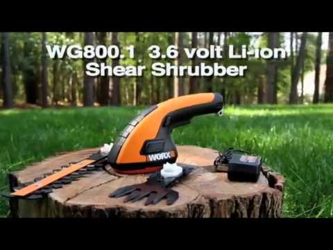 Forbice Taglia Siepi WORX WG800E batteria litio