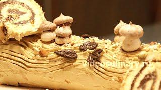 Смотреть онлайн Рецепт торта «Рождественское полено» или Буш де Ноэль