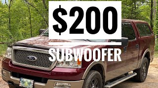 """10"""" Kenwood shallow SUBWOOFER Install and Overview 1000 Watt Pioneer Amplifier. 2004 Ford F150!"""