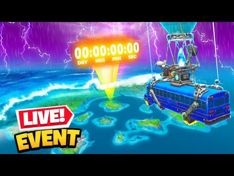 live fortnite flooded map event doomsday full event