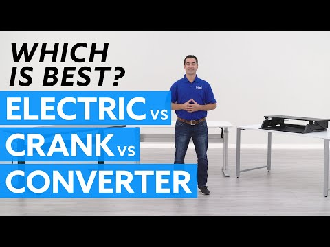 Electric vs. Crank vs. Converter: Which standing desk is best for you?