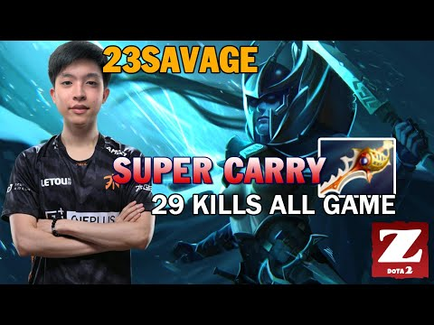 23SAVAGE Phantom Assassin With DEVINE - Super CARRY 29 Kills All GAME DOTA 2